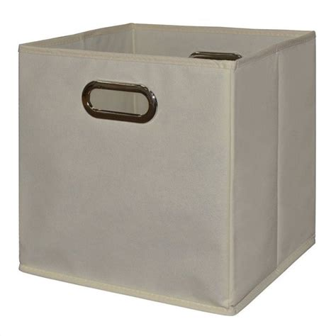 canvas storage bins niche cubo foldable fabric canvas tote bin beige set of 6