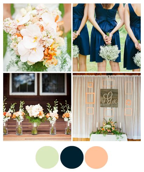 wedding colour themes navy wedding color inspiration peach and navy rustic