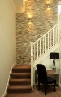 painting a feature wall ideas entry contemporary with metal railing stone floor water fall
