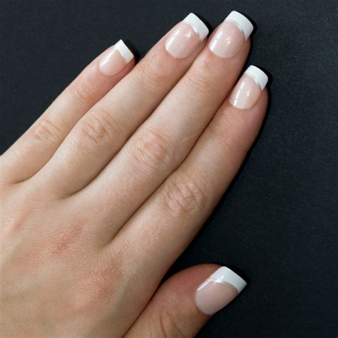 Nail Manicure by False Nails By Bling White Silver Manicure