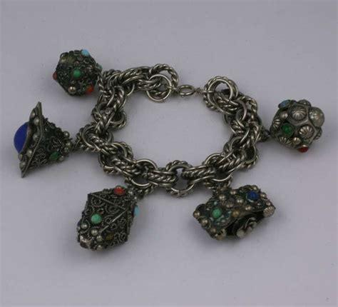 chunky italian charm bracelet for sale at 1stdibs