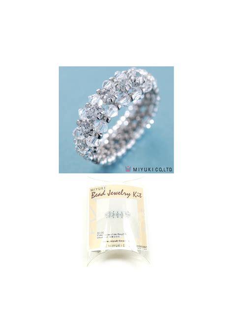 ring kits jewelry miyuki jewelry kit finger ring cubic zirconia line ring