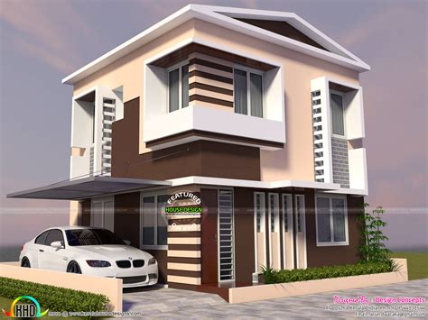 home design for plot two storied modern house in small plot kerala home