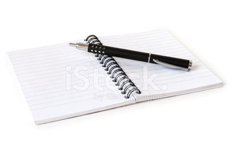 Linen Notebook With Pen notebook with pen stock photos freeimages