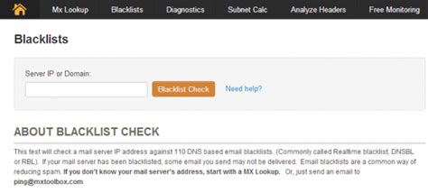 Mxtoolbox Lookup Email Blacklist Smtp Mail Server