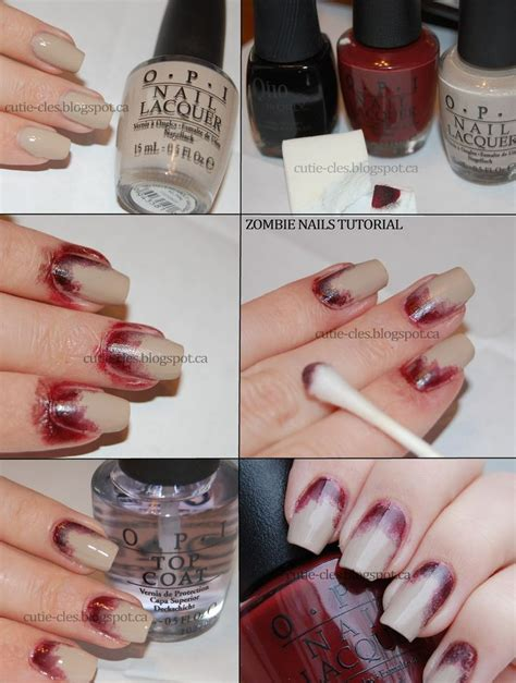 zombie nails tutorial best 25 simple zombie makeup ideas on pinterest