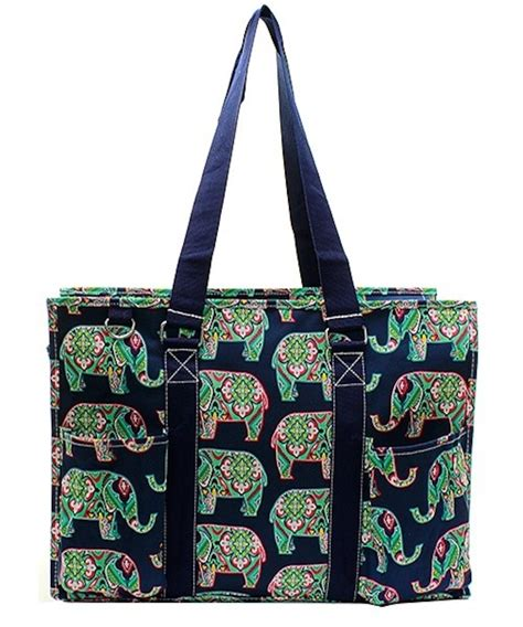 18 quot large zip top organizing utility tote bag canvas