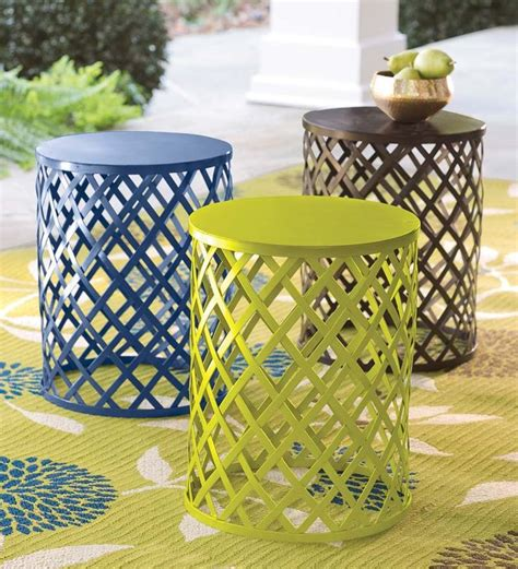 metal lattice side table 36 best images about outdoor decor on nesting