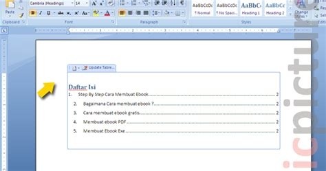 membuat makalah minimal berapa lembar contoh daftar isi cara membuat daftar isi di word 2007