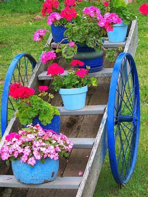 Flower Cart Gardens On Wheels Pinterest Garden Flower Cart