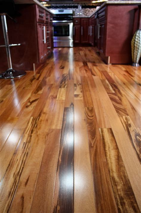 tigerwood koa prefinished modern