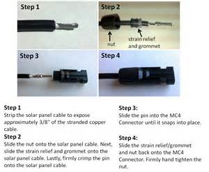mc4 connectors for solar panel extension cable wire