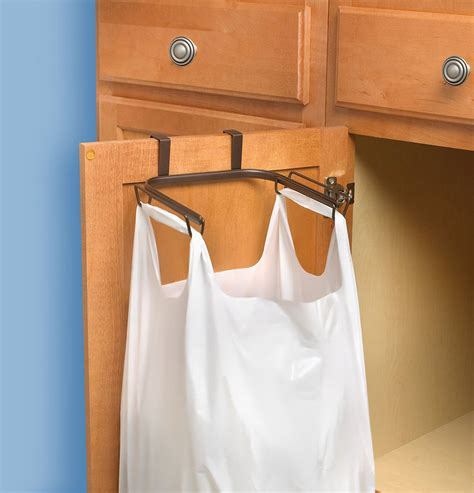 Over Cabinet Trash Bag Holder In Plastic Bag Recyclers Cabinet Door Trash Bag Holder