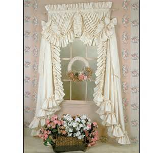 Country Ruffled Curtains Four White Country Ruffled Curtains By Dorothy S Ruffled Originals Images Frompo