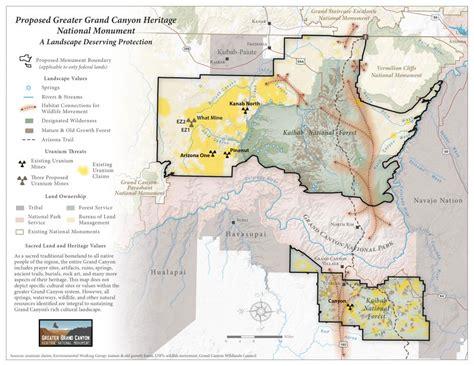 grand and map arizonans support ban on grand uranium mining