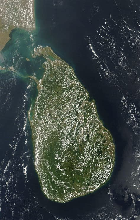 sri lanka satellite map fair weather clouds sri lanka image of the day