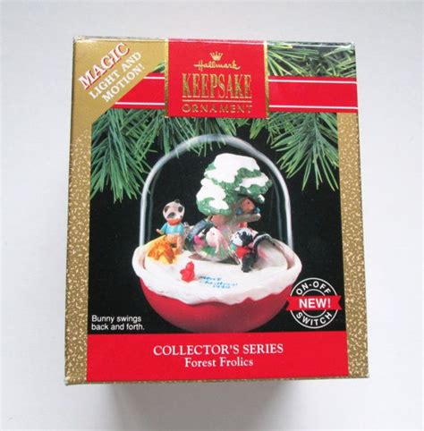 Hallmark Magic Light And Motion Ornament Forest By