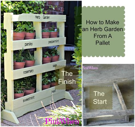 how to build an herb garden how to make an herb garden from a pallet pinkwhen