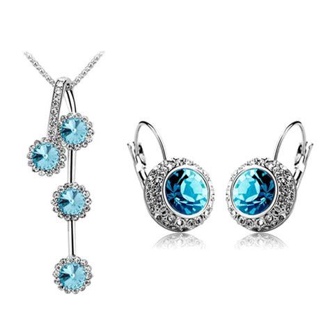 rhinestone silver gold plated jewelry set free shipping