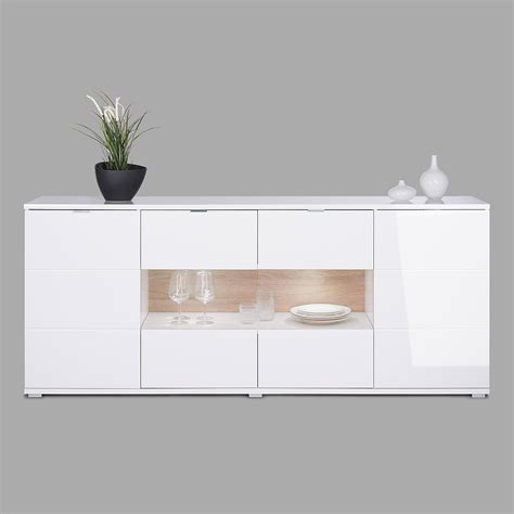 Sideboard Weiß Buche by Wohnzimmer Mit Dunkelgr 252 Ner