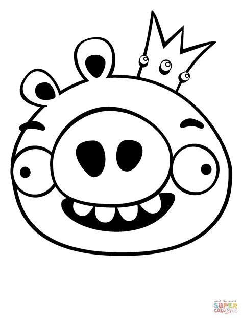 king pig coloring page king pig coloring page free printable coloring pages