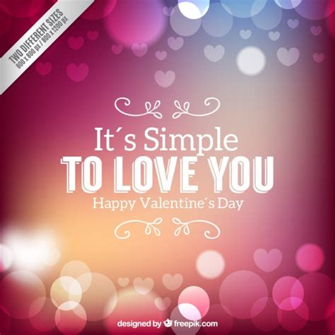 valentines day background in bokeh style vector