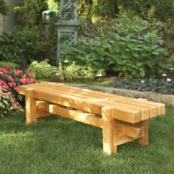 Building Plans For Wooden Picnic Table by Durable Doable Outdoor Bench Woodworking Plan From Wood Magazine
