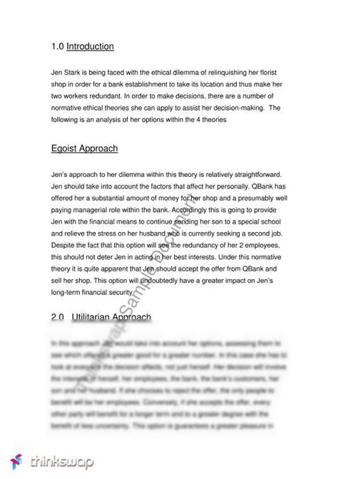 Ethics Essay Exle by Ethical Study Node Ts Field Subject Thinkswap
