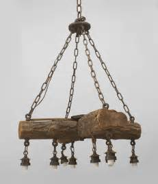 Rustic Chandelier Early 20th C American Rustic Log Chandelier At 1stdibs