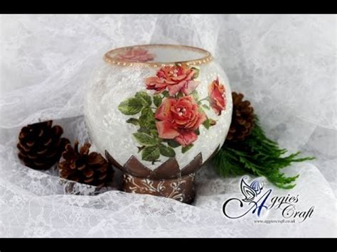 decoupage candle tutorial decoupage tutorial glass candle holder with rice paper