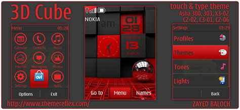 themes reflex nokia c2 02 3d cube theme for nokia asha 303 300 x3 02 c2 02 and