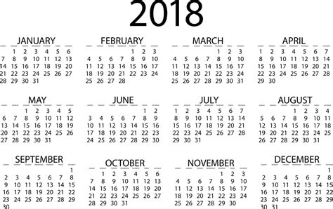 printable calendar yearly 2018 free printable calendar 2018 with holidays printable
