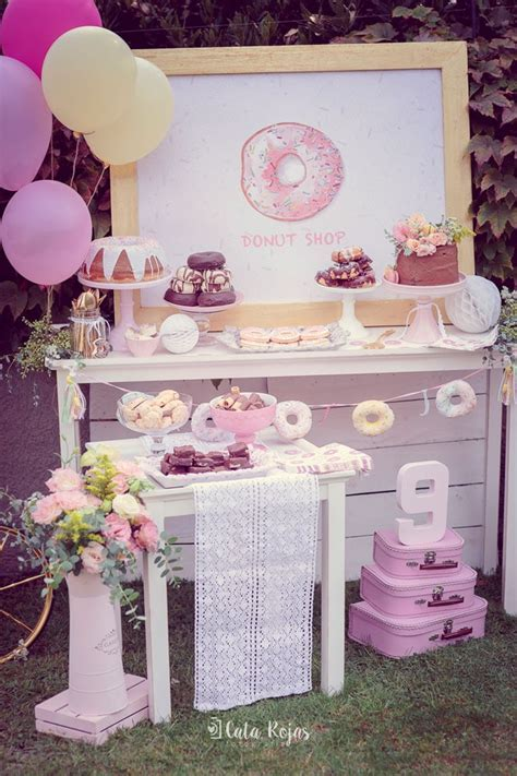 Vintage Donut Birthday Party   Donut Birthday Party Ideas