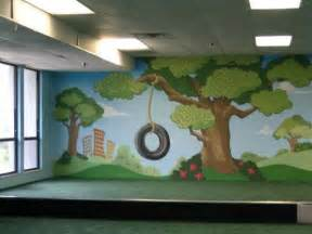 contemporary kids playroom with city park wall murals kids room kids playroom designs amp ideas