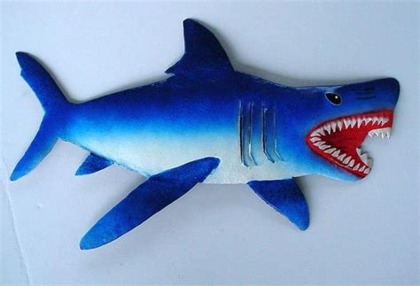 baby shark metal 46in metal shark wall art wildwalls jimmy eaton milton
