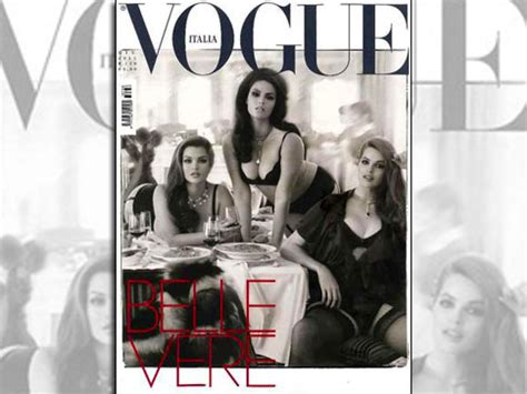Italy Fashion Industry To Fight Anorexia by Molto Vogue Italia Puts Plus Sized Models In