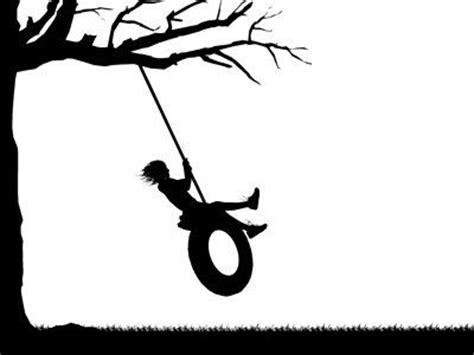 swing silhouette silhouette swing silhouette animation graphic depicting