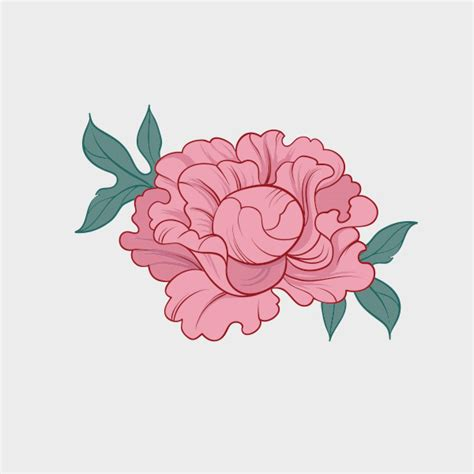 peoni pattern font free peony silhouette www imgkid com the image kid has it