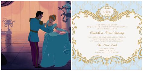 Princess Theme Wedding Invitations by Cinderella Inspired Wedding Invites Plus 6 More Disney