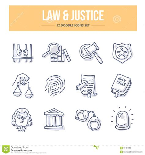 doodle lawyer justice doodle icons stock vector image 66404718