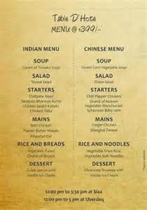 Table Table Menu Table D Hote Lunch Menu Picture Of Siaa Hyderabad