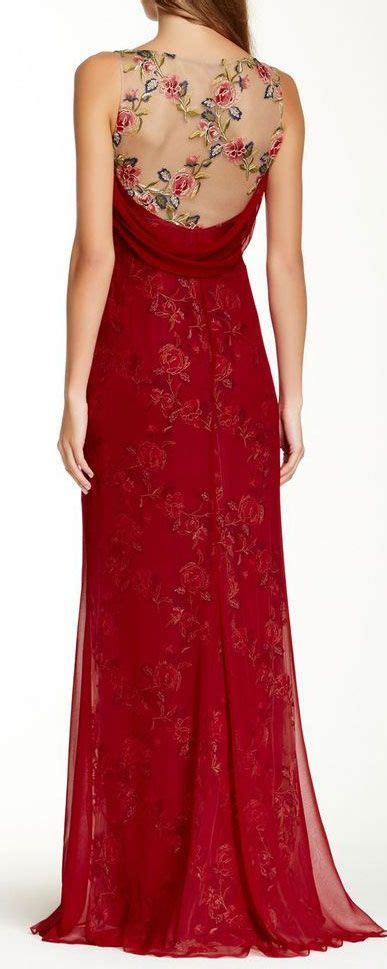 chagne silk gowns notte embroidered floral silk gown vestiditos vestidos