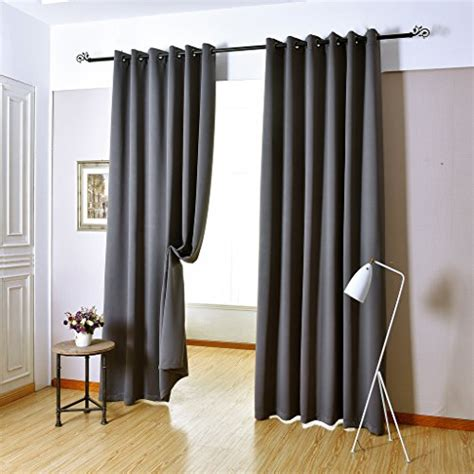 curtains 46 inches long h versailtex blackout room darkening curtains window panel
