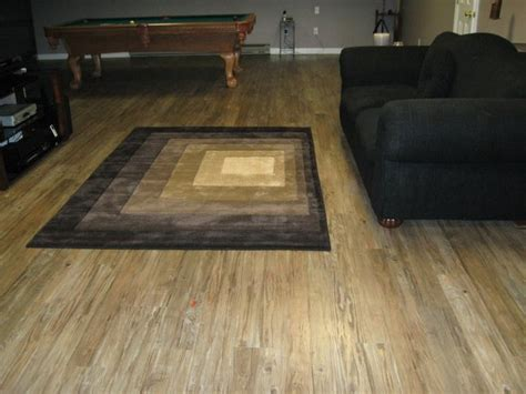 vinyl floor in basement basement floor modern living room bridgeport by