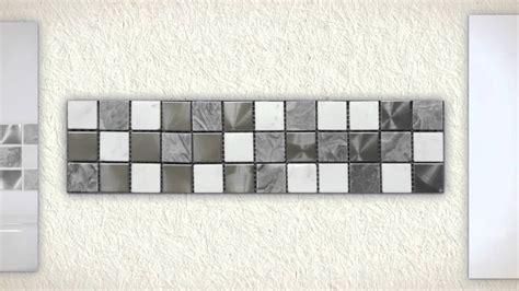 White Mosaic Tiles Bathroom - bathroom wall tiles gloss white grey white marble polished steel mosaic bathroom tiles youtube