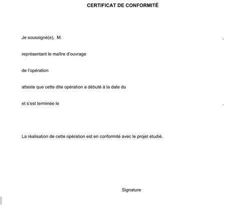 modele attestation travaux 7 document