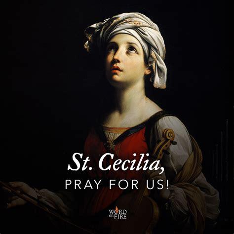 prayergraphicscom st cecilia pray