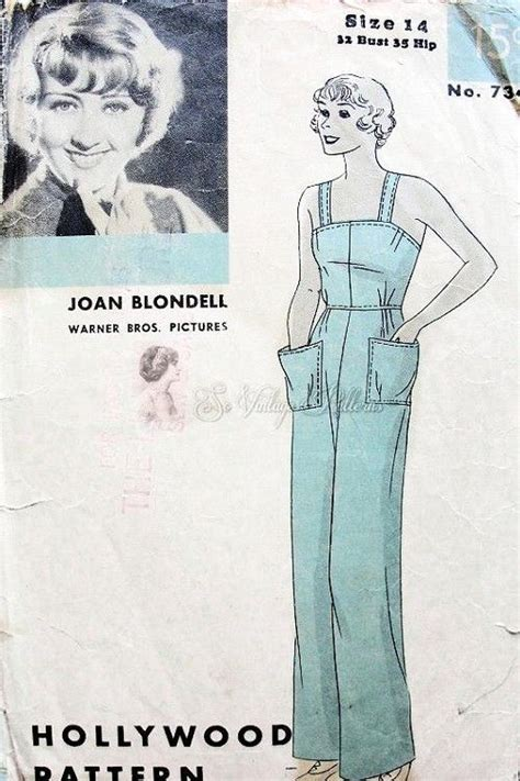 vintage overall pattern 429 best images about 1930s sewing patterns on pinterest