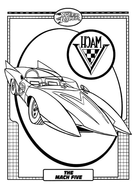 speed racer coloring page coloring home