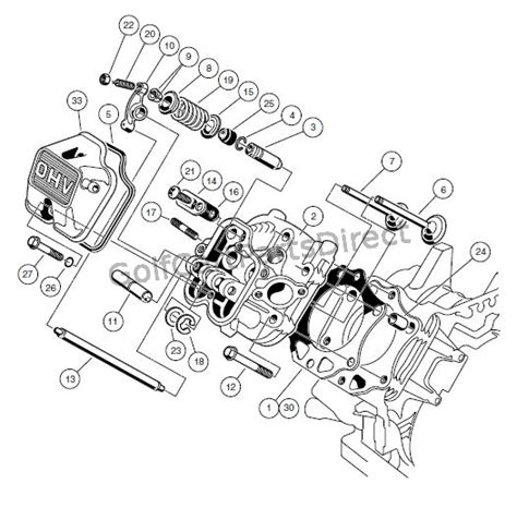 engine fe290 engine cylinder club car parts